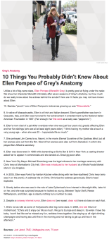 10 Things You Probably Didn't Know About Ellen Pompeo of Grey's Anatomy