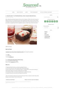 5-Ingredient Strawberries and Cream Brownies