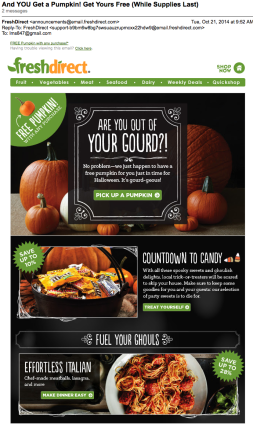 And YOU Get a Pumpkin! Get Yours Free (While Supplies Last) Email