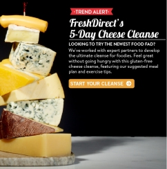 April Fools Cheese Cleanse Email