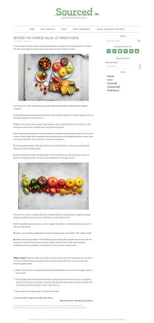 Beyond the Caprese Salad- 10 Tomato Ideas