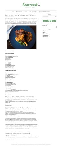 Chef Joseph Johnson's Braised Lamb Shank Recipe