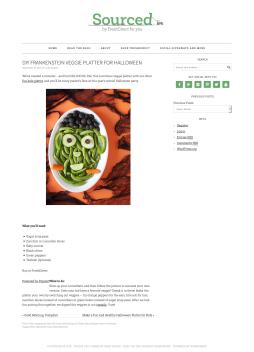 DIY Frankenstein Veggie Platter for Halloween