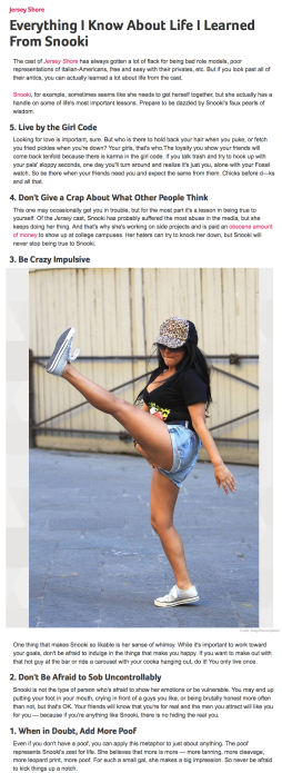 Everything I Know About Life I Learned From Snooki