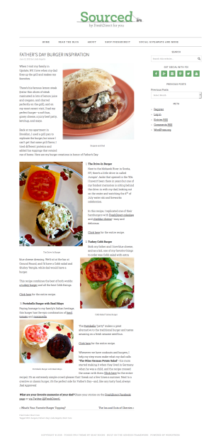 Father's Day Burger Inspiration