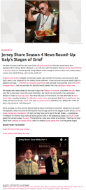 Jersey Shore Season 4 News Round-Up   Italy's Stages of Grief