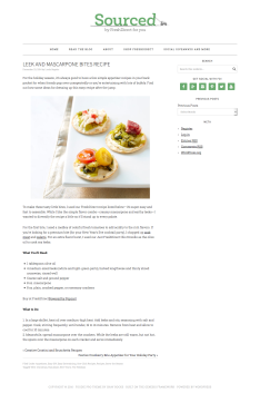 Leek and Mascarpone Bites Recipe