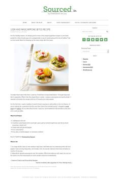 Leek and Mascarpone Bites Recipe