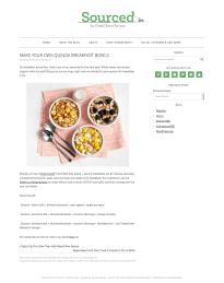 Make Your Own Quinoa Breakfast Bowls