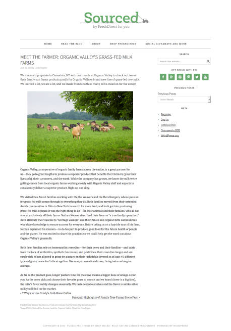 Meet the Farmer | Organic Valley's Grass-Fed Milk Farms