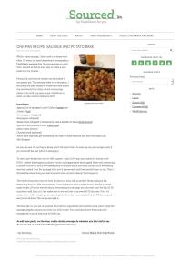 One-Pan Recipe- Sausage and Potato Bake