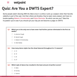 Quiz | Are You a DWTS Expert?