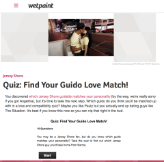 Quiz   Find Your Guido Love Match