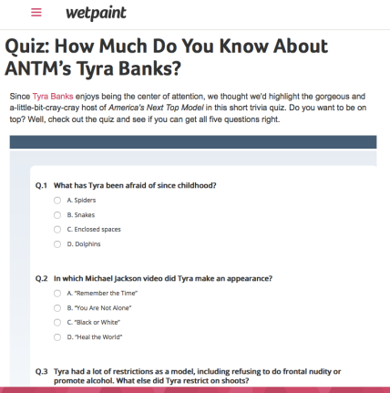 Quiz   How Much Do You Know About ANTM's Tyra Banks?