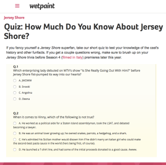 Quiz | How Much Do You Know About Jersey Shore?