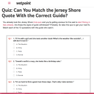 Quiz | Match the Quote with the Jersey Shore Guido
