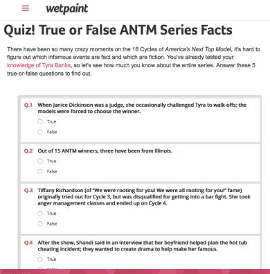 Quiz | True or False ANTM Facts