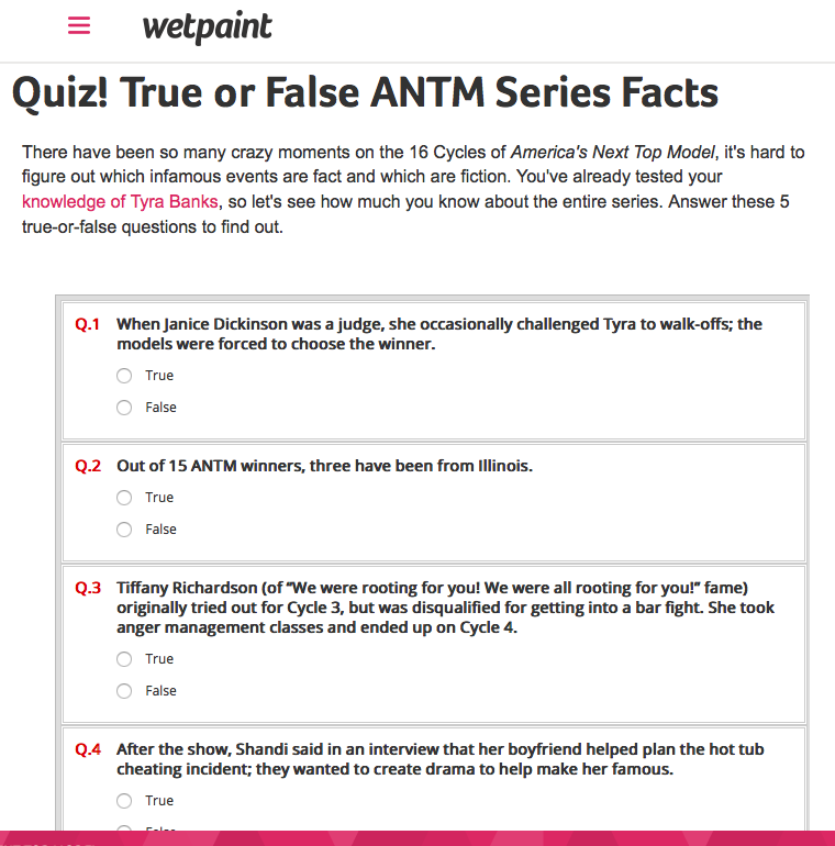 Quiz | True or False ANTM Facts