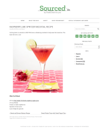 Raspberry-Lime Spritzer Mocktail Recipe
