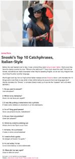 Snooki's Top 10 Catchphrases, Italian-Style