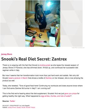 Snooki's Real Diet Secret Is Zantrex