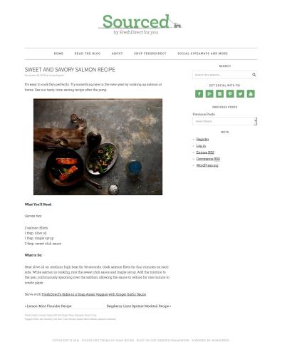 Sweet and Savory Salmon Recipe