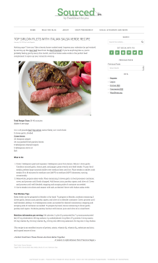 Top Sirloin Filets with Italian Salsa Verde Recipe