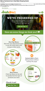 We've Freshened Up to Help Make Shopping Easier Email